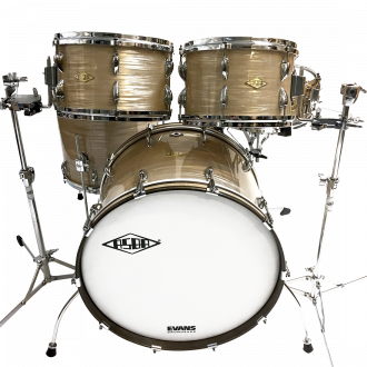 Drums Revelation Charlie White kit overview, bass drum, floor tom, tom