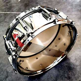 Snare Steel Loving You Strong bottom view with snare wires + strainer