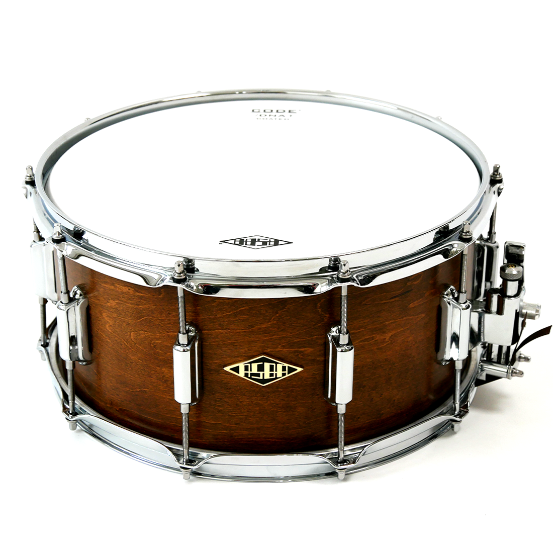 Snare Rive Gauche finish Teck Me Out + logo + face + head
