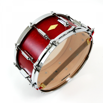 Snare Rive Gauche finish Lou Red snare wire + logo