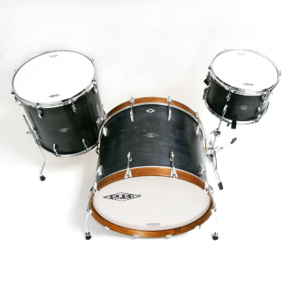 Drum kit Super Simone light brown hoop bass drum, with floor tom and tom 2