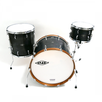 Drum kit Super Simone light brown hoop bass drum, with floor tom and tom