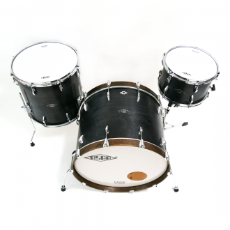 Drum kit Super Simone dark brown hoop bass drum, with floor tom and tom 3