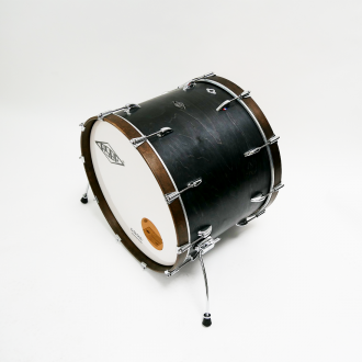 Drum kit Super Simone dark brown hoop bass drum 1