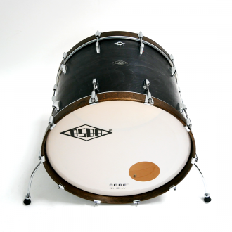 Drum kit Super Simone dark brown hoop bass drum 2