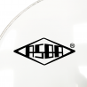 """RESONANT HEAD FOR BASS DRUM asbaHEAD ATOMIC smooth white 20"""" piercing - 2"""