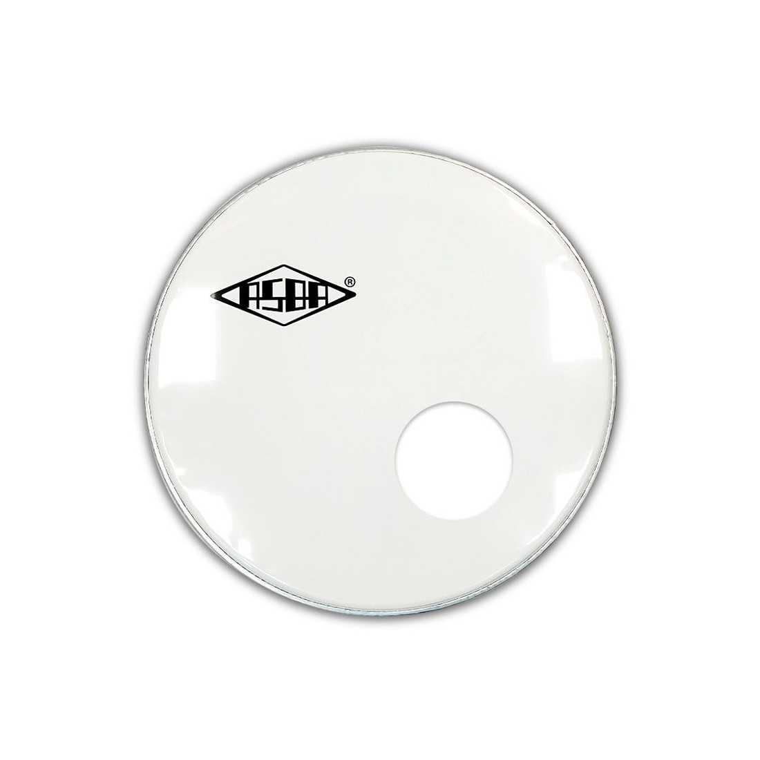 """RESONANT HEAD FOR BASS DRUM asbaHEAD ATOMIC smooth white 22"""" piercing - 1"""