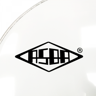 "RESONANT HEAD FOR BASS DRUM asbaHEAD ATOMIC smooth white 24"" piercing - 2"
