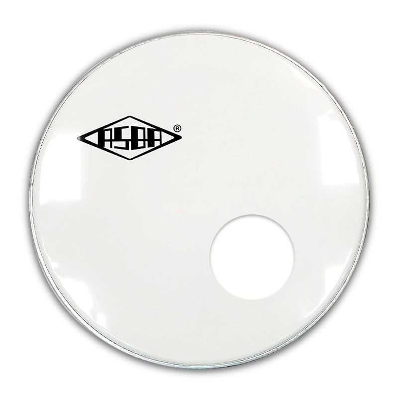 "RESONANT HEAD FOR BASS DRUM asbaHEAD ATOMIC smooth white 24"" piercing - 1"