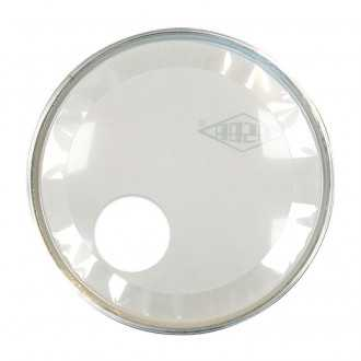 "RESONANT HEAD FOR BASS DRUM asbaHEAD ATOMIC smooth white 24"" piercing - 3"